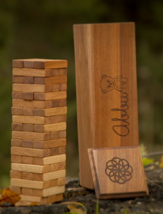 Personalized Jenga Set