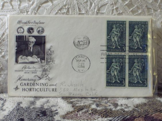 http://ajunkeeshoppe.blogspot.com/  First Day Issue/Cover-Stamp-Gardening, Horticul.1958 3c 8ozP724B4HP1192