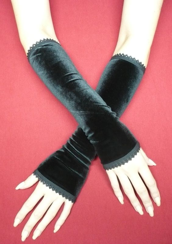 Long and simple velvet gloves by Estylissimo.deviantart.com on @deviantART: