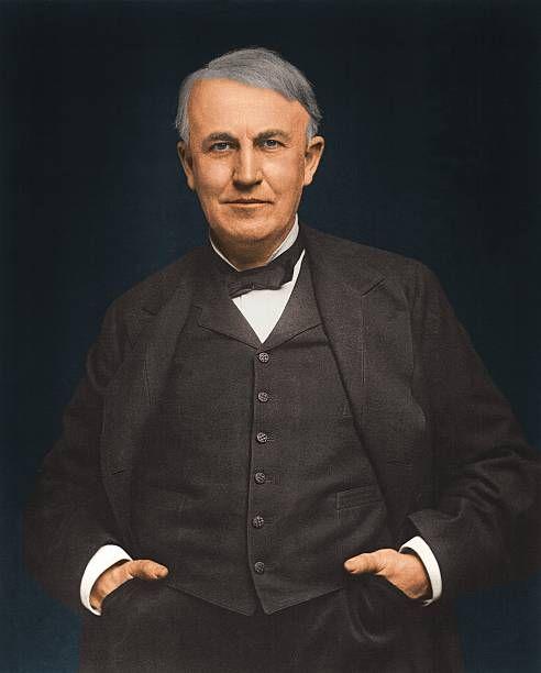 Full Length Portrait Of American Inventor Thomas Alva Edison