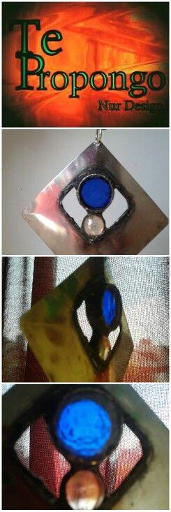 linea de collares, metal con vidrio!!!!