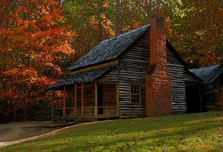 Cades Cove Cabin in Watercolor | by Patrick N. Oglesby