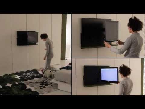 Armadio porta tv, con tv estraibile e orientabile. letto moderno ...