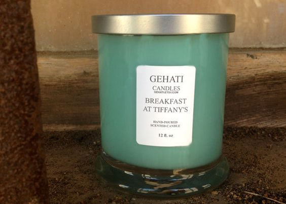 """Wake up to the feeling of having """"Breakfast at Tiffany's."""" The outstanding fragrance of blackberry sage is created with sun-ripened blackberries and hints of sage. This candle is sure to fill the air with a sweet, medium aroma. The head-clearing character of sage contributes to a wise mind. Light this candle in the morning and you'll attract all the right answers throughout your day! #soywaxcandle #paraffinwaxcandle #holidaygift #christmascandle #homeaccessory #etsyshop"""