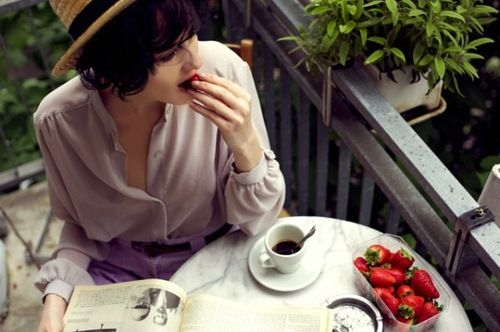 perfect morning ...and lavender outfit