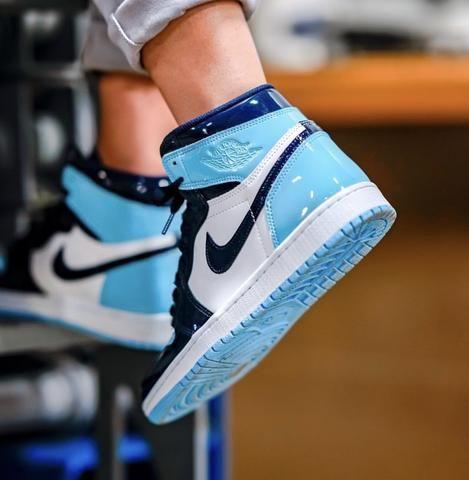Air Jordan 1 Patent Leather Unc Womens Jordan Shoes Girls Hype Shoes Custom Nike Shoes