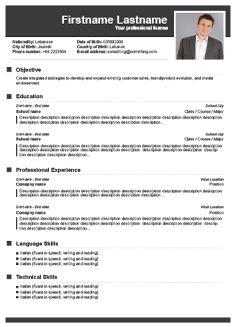 free cv builder free resume builder cv templates - Resume Builder Template