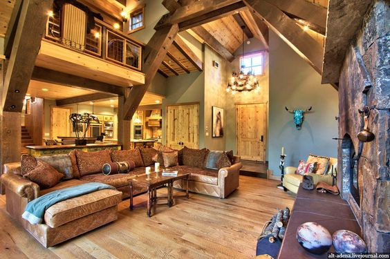 Mountain Style Home Decorated In Rustic Style Home