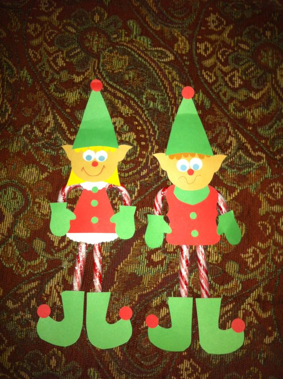 My candy cane elves elf on the shelf pinterest canes for Elf shelf craft show