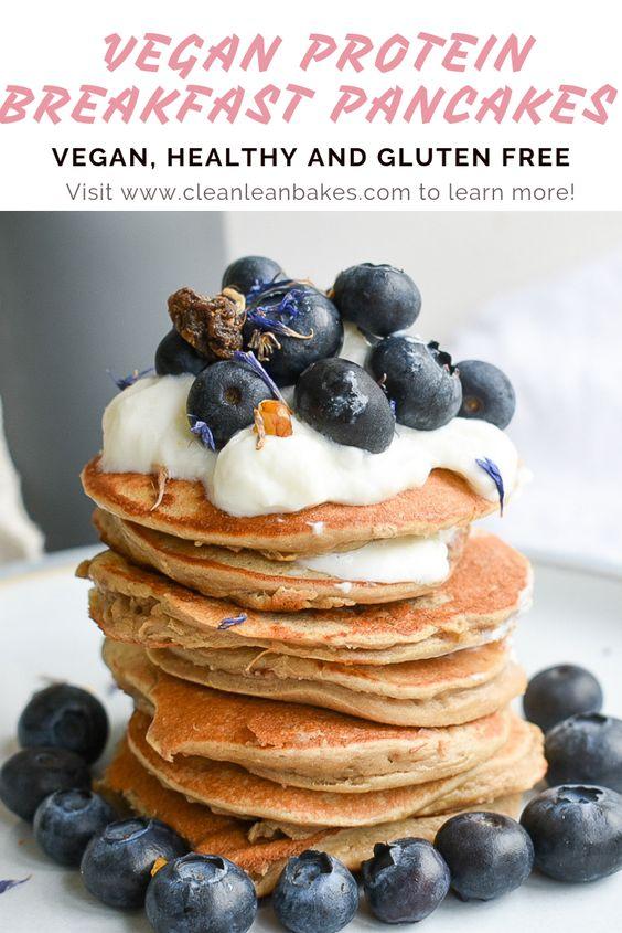 Vegan Protein Breakfast Pancakes