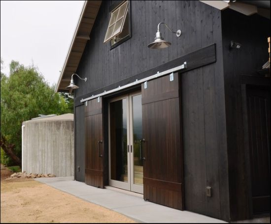 Barn doors over patio doors could be added for added storm for Sliding barn doors for patio