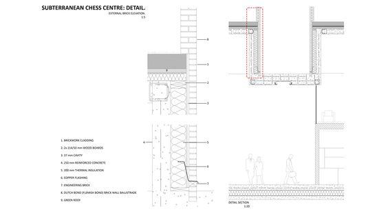 Subterranean Chess Center Detail - External Brick Elevation - 2009/10