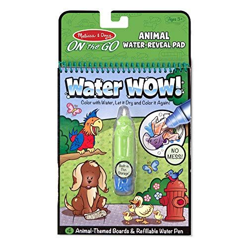 Melissa Doug Water Coloring Painting Book Water Wow Animal On The Go Travel Activity Mel Preschool Coloring Pages Coloring Books Toddler Coloring Book