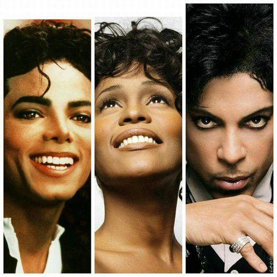 Michael Jackson,  Whitney Houston & Prince