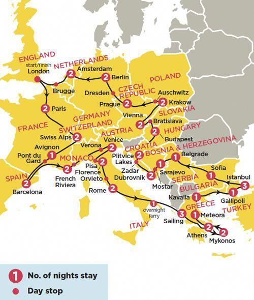 Europedestinationsmap In 2020 Backpack Europe Route Road Trip Europe Europe Trip Itinerary