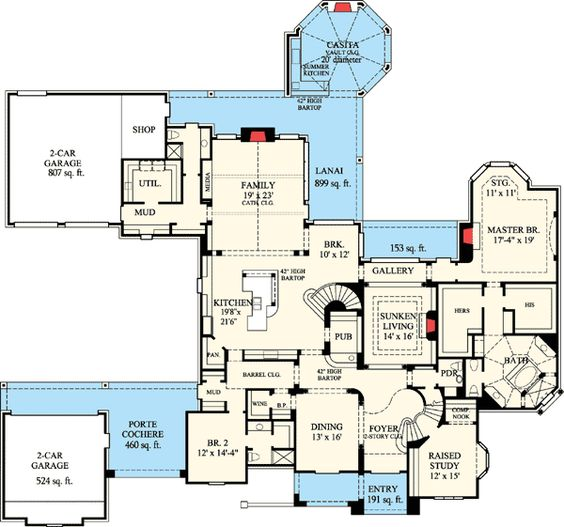 Plan 67115gl french country estate home plan luxury house plans house plans and french country - Luxury estate plans plan ...