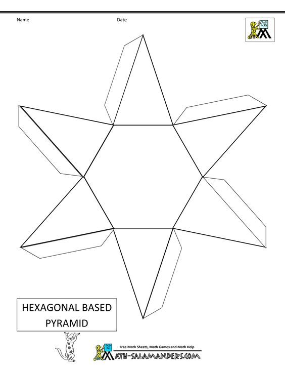 math geometric art | free printable geometry worksheets hexagonal ...