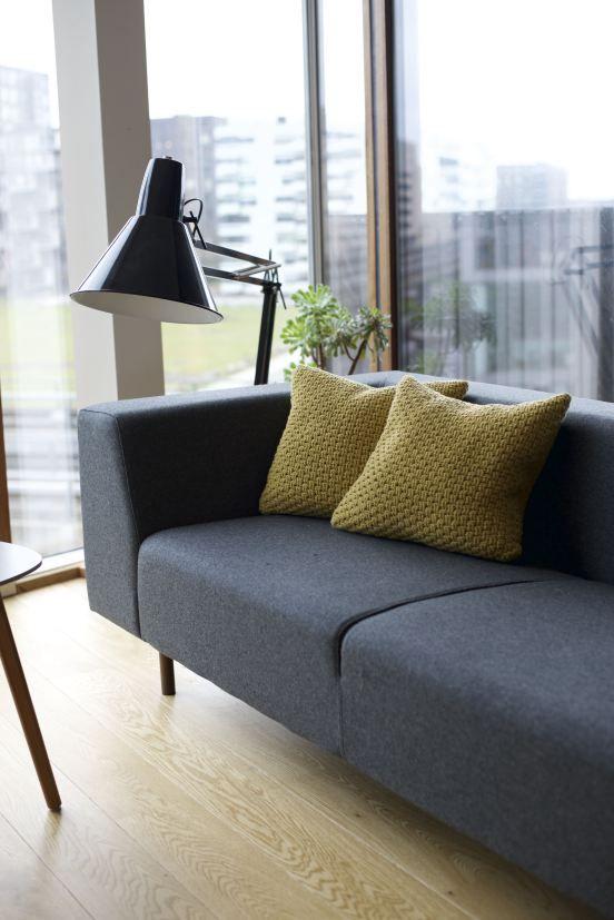Mønsterbryders hæklede sofapuder