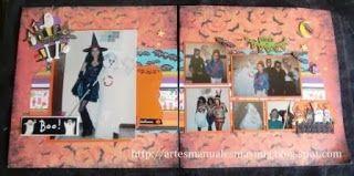 Halloween un Layout de Brujas y Fantasmas