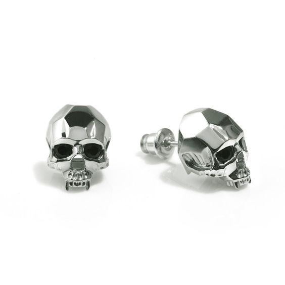 Kasun Vampire Skull Stud Earrings found on Polyvore