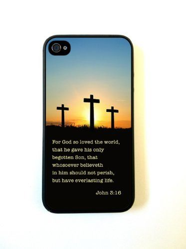 iPhone 4 Case Silicone Case Protective iPhone 4/4s Case Bible Quote John 3 16:Amazon:Cell Phones & Accessories @Tiffany Gorrell