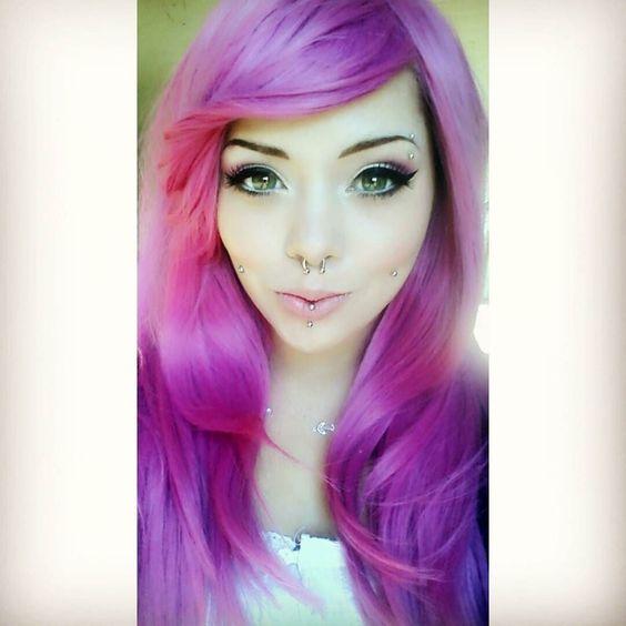 I feel like a pretty pink princess :') Wearing Pink Lemonade from @lush_wigs  #pinkhair #longhair #wig #lushwigs #bigeyes #greeneyes #motd #pale #cheekpiercings #verticallabret #girlwithpiercings #alt #altgirl #pretty #fresh #pink #pinklemonade #prettyprincess #dermals #septum by kathrynimagin