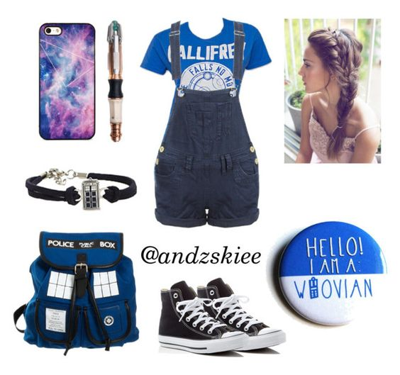"""""""Whovian <3"""" by andzskiee ❤ liked on Polyvore featuring Converse and BlissfulCASE"""