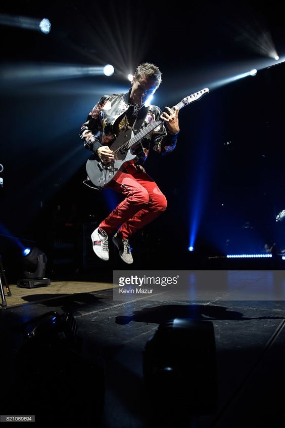 Matt Bellamy of Muse performs at Northwell Health at Jones Beach Theater on July 22, 2017 in Wantagh, New York.