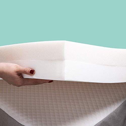 Queen 4 Memory Foam Mattress Topper White Authentic Comfort