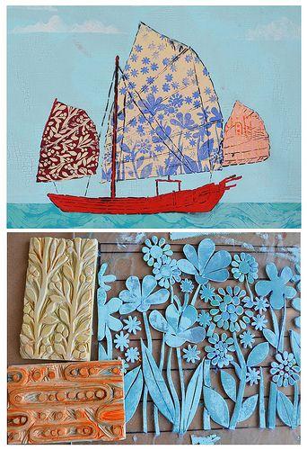 method: sea of relief prints