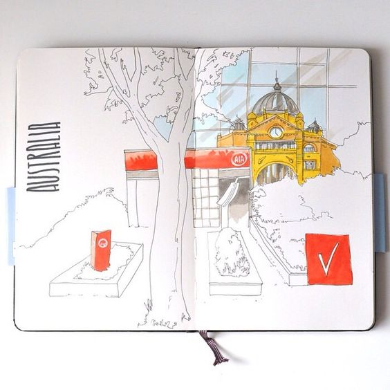 #moleskine #multiliner #copic #sketchbook #travelbook