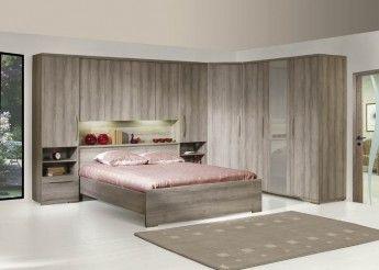 Pont de lit lit adulte armoire 3 portes et armoire d for Armoire et lit adulte