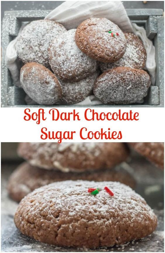Chocolate sugar cookies are the perfect christmas cookie for Easy holiday cookies and candy recipes