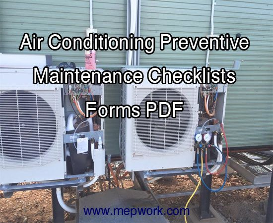 Air Conditioning Preventive Maintenance Checklists Forms Pdf Preventive Maintenance Maintenance Checklist Air Conditioning Maintenance