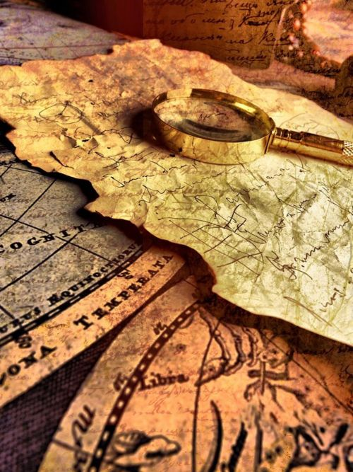 pirate maps • shipping maps • vintage style shipping map • sailing high seas • nautical • maritime • riawati