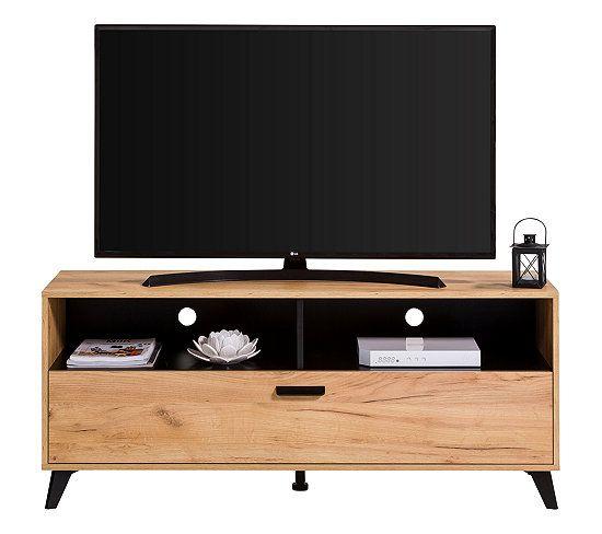 Meuble Tv Industriel Umbria Decor Imitation Chene Noir Meuble Tv But Meuble Tv Rangement Mobilier De Salon Meuble Tv Industriel
