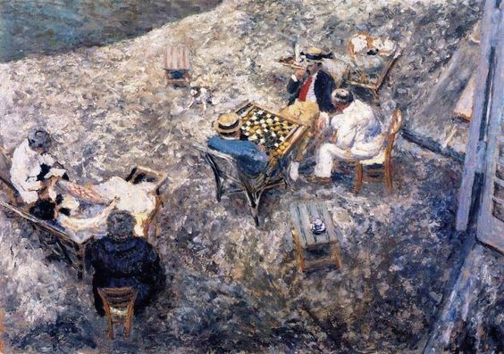Édouard Vuillard-The Game of Checkers at Ampreville 1906