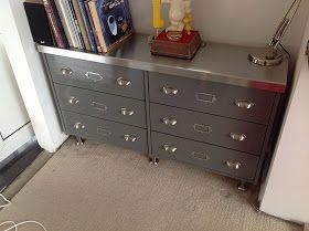 IKEA Hackers: Faux vintage steel sideboard from Rast chest