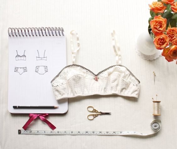 Vintage Style Bra Sewing Pattern Ohhh Lulu 1301 Bambi Soft Bra Multi-size Digital PDF Sewing Pattern