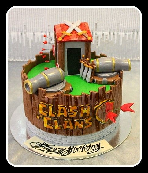 Cake Design Coc : Clash of Clans Cake 1 Jack s Cakes Pinterest Choque ...