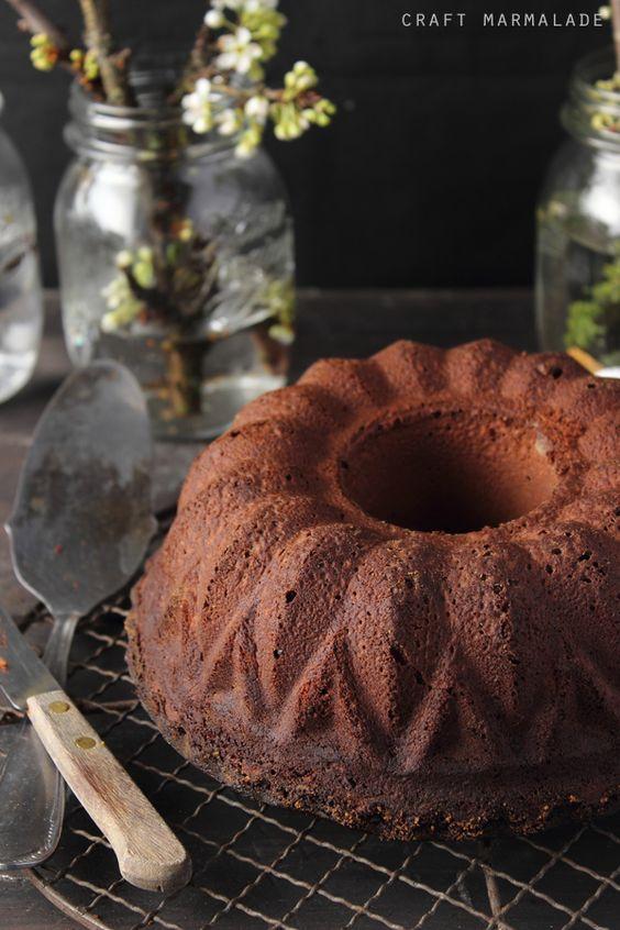 craft marmalade: Ciambellone al cioccolato fondente.. e tanti auguri Craft Marmalade!!