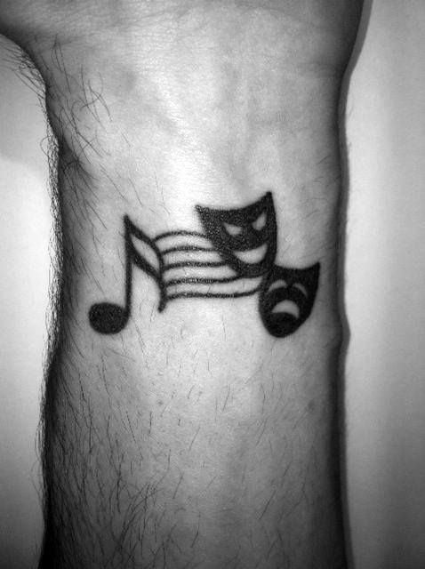 Top 43 Simple Music Tattoos For Men 2020 Inspiration Guide