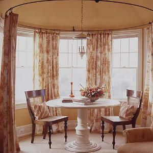 Circular Bay Window Curtain Maybe For A Turret In A