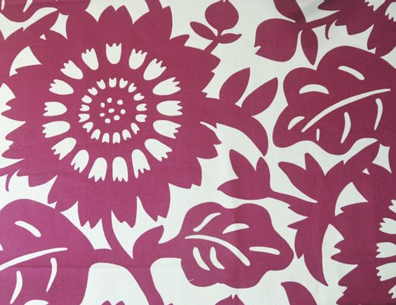 Home Decor Fabric, Designer Fabric, Plum Floral, Purple Floral, Upholstery  Fabric,
