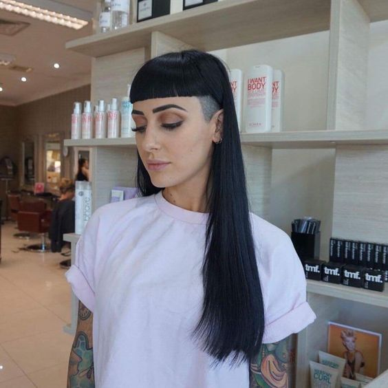 All Sizes Bangs And Undercut Flickr Photo Sharing Undercut Long Hair Shaved Side Hairstyles Edgy Hair