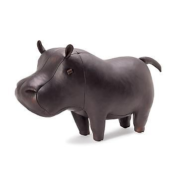 Leather Hippo Stool: Oh, Hippo looks so abundantly robust and would be a faithful companion