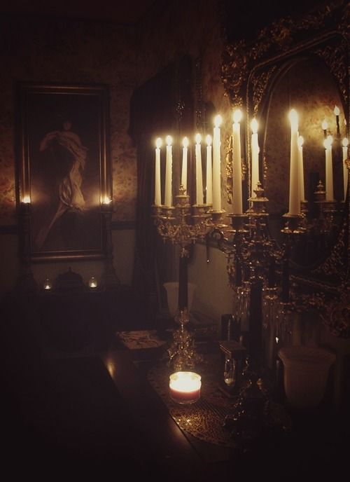Candles Old Tables And Candelabra On Pinterest