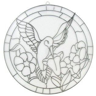 Tree House Studio Hummingbird Faux Stained Glass Template Shop
