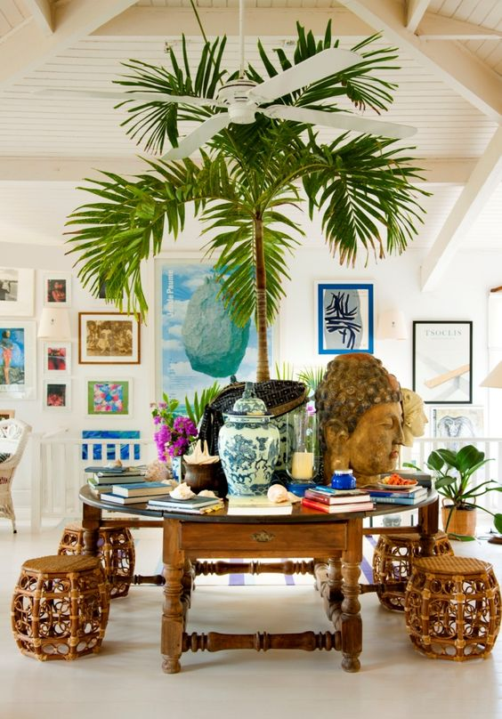 Gorgeous tropical palm tree that transforms this interior. For instant results completely maintenance free why not opt for an artificial palm? View our range here