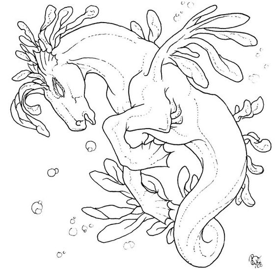 Seahorses deviantART and Deviantart fantasy on Pinterest